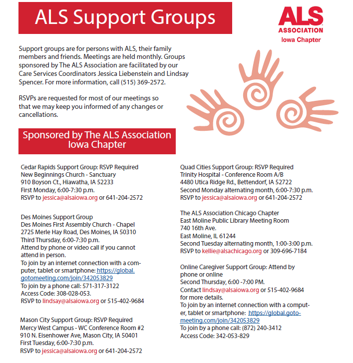 Support Groups 2017 Updated